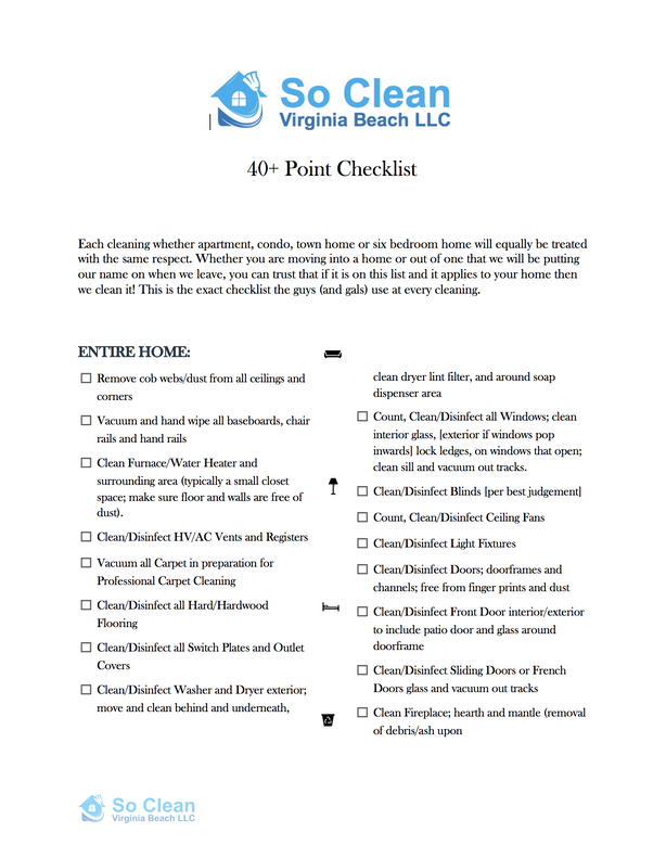 Move Out Cleaning Checklist - Professional, Reliable Deep ...